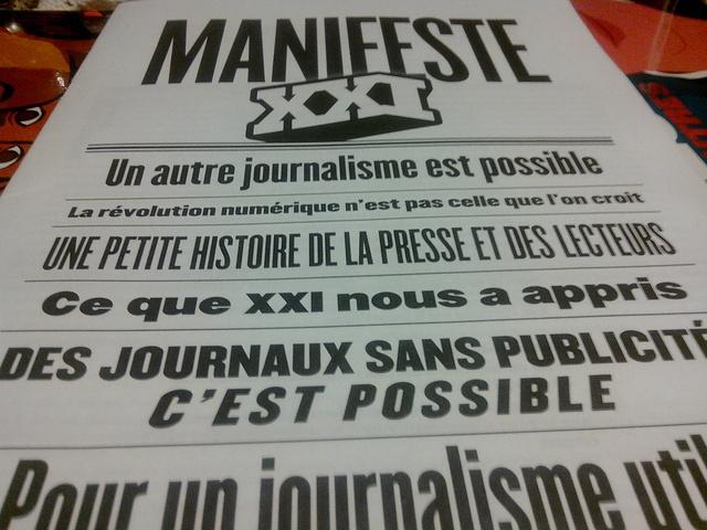 Couverture du Manifeste de XXI