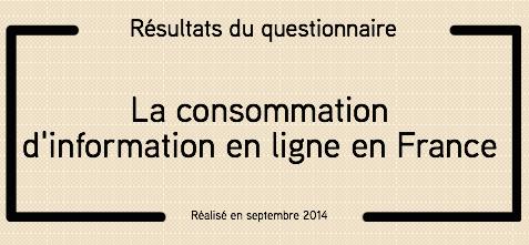 Consommation information en ligne